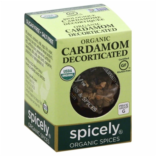 Spicely Organic Cardamom Decorticated Perspective: front