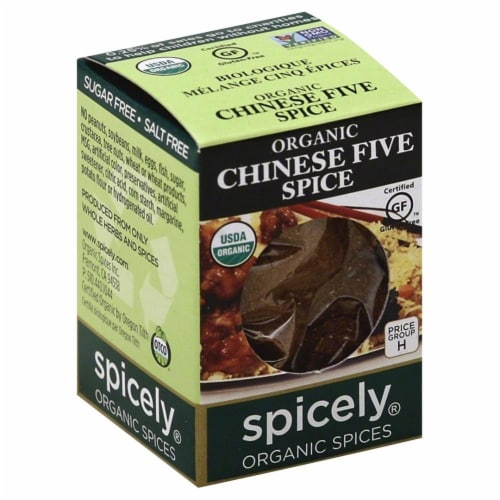 Spicely Organic Chinese Five Spice Perspective: front
