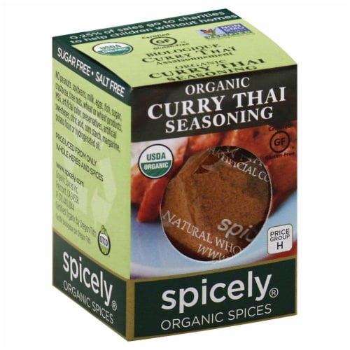 Spicely Organic Curry Thai Seasoning Perspective: front