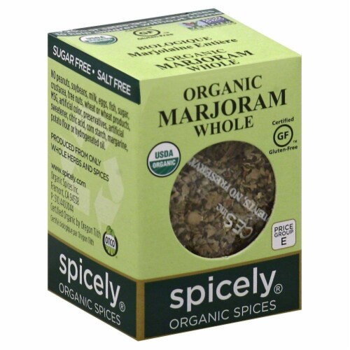 Spicely Organic Whole Marjoram Perspective: front