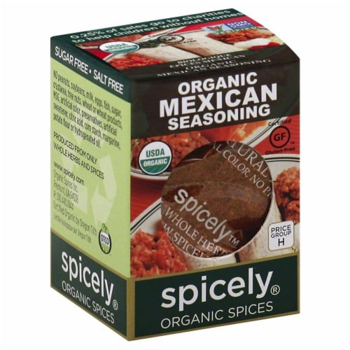 Spicely Organic Mexican Seasoning Perspective: front