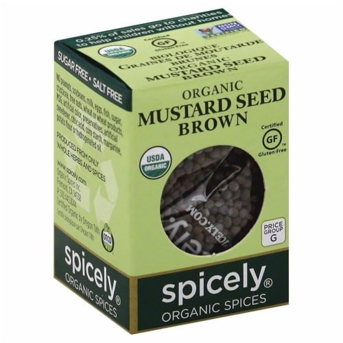 Spicely Organic Brown Mustard Seeds Perspective: front