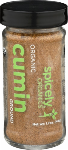Spicely Organics Ground Cumin Perspective: front