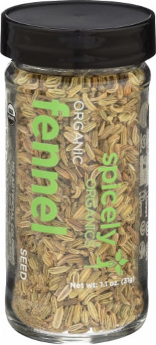 Spicely Organics Fennel Seed Perspective: front