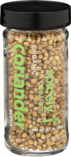 Spicely Organics Coriander Seeds Perspective: front