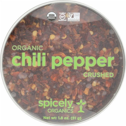 Spicely Organics Organic Crushed Chili Pepper Perspective: front