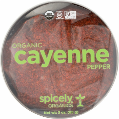Spicely Organics Organic Chili Cayenne Pepper Perspective: front
