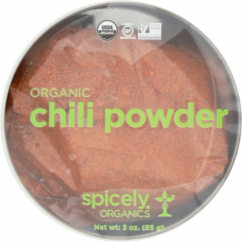 Spicely Organics Chili Powder Perspective: front
