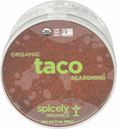 Spicely Organics Taco Seasoning Perspective: front