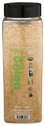 Spicely Organics Onion Granulate Perspective: front