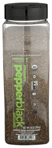 Spicely Organic Ground Black Peppercorn Perspective: front