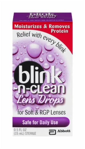 Blink-N-Clean Lens Drops Perspective: front