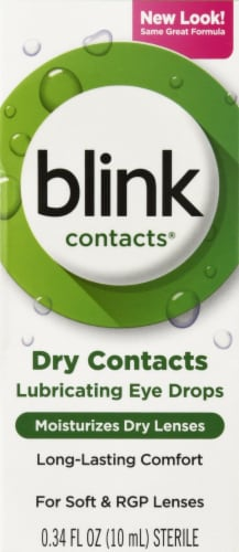 Blink Contacts Lubricating Eye Drops Perspective: front