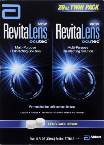 RevitaLens Multi-Purpose Disinfecting Solution Twin Pack Perspective: front