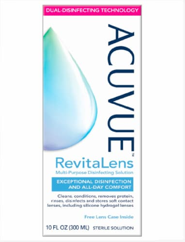 Acuvue Revitalens Multi-Purpose Disinfecting Contact Lens Solution Perspective: front