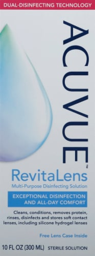 Acuvue RevitaLens Multi-Purpose Contact Disinfesting Solution Perspective: front