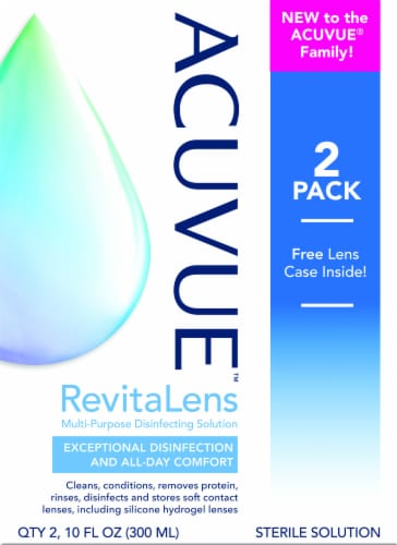 Acuvue RevitaLens Multi-Purpose Contact Disinfecting Solution Perspective: front