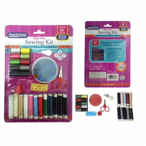 Familymaid 23726 Sewing Kit, 60 Piece per Set - Pack of 96 Perspective: front