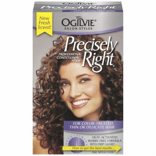 Ogilvie Precisely Right for Color-Treated Hair Professional Conditioning Perm Kit Perspective: front