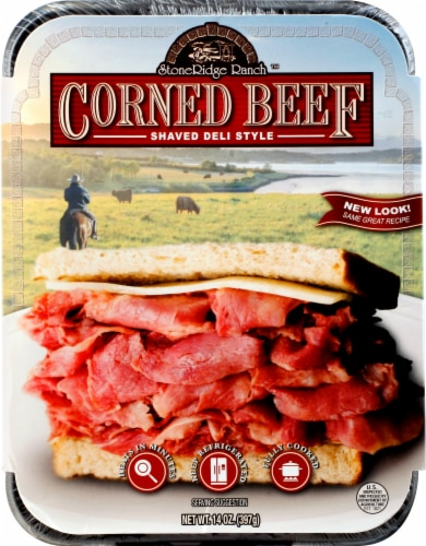Stone Ridge Ranch Shaved Deli Style Corned Beef Perspective: front