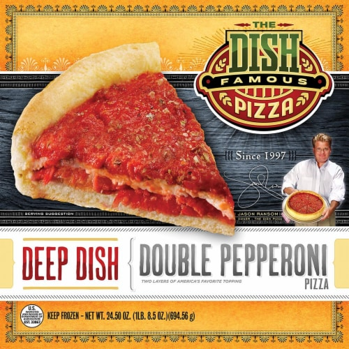 The Dish Deep Dish Pepperoni Pizza Perspective: front