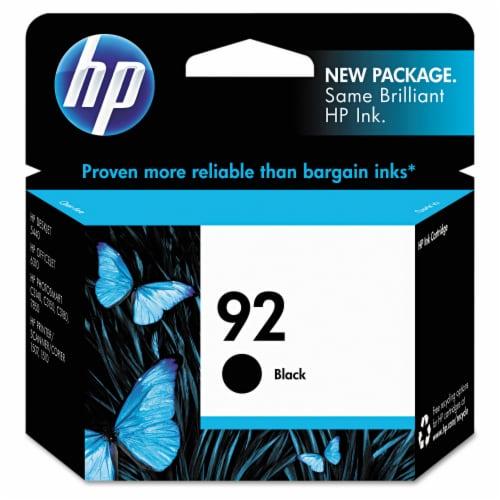 HP 92 Original Ink Cartridge - Black Perspective: front