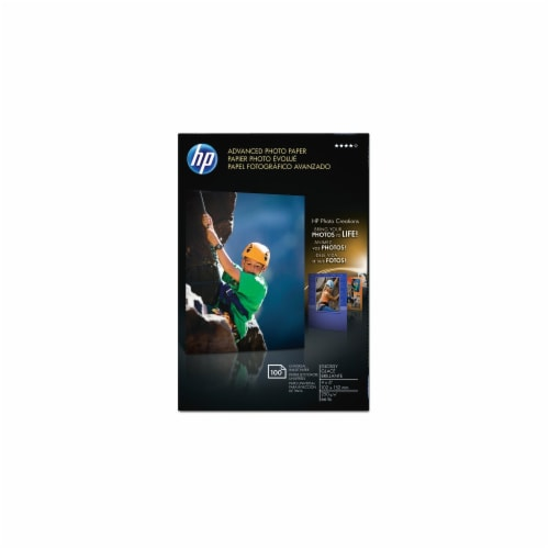 HP Advanced Glossy Photo Paper - 100 Pack - White Perspective: front