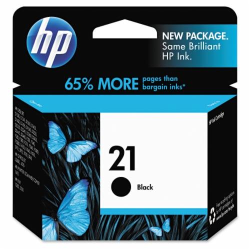 HP 21 Original Ink Cartridge - Black Perspective: front