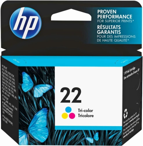 HP 22 Ink Cartridge - Tri-Color Perspective: front