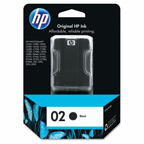 HP 02 Original Ink Cartridge - Black Perspective: front