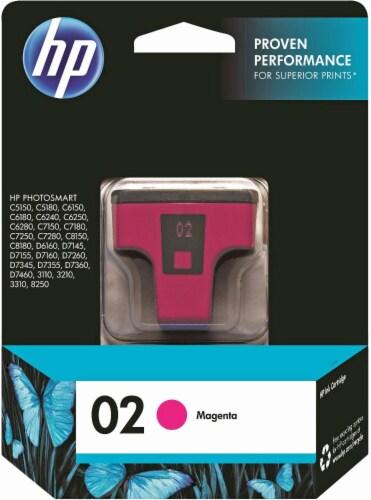 HP 02 Ink Cartridge - Magenta Perspective: front