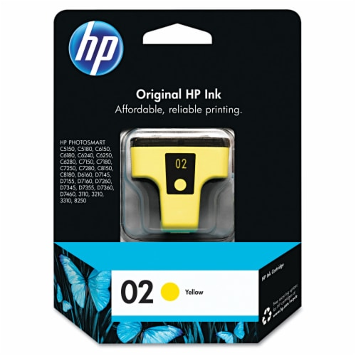 HP 02 Original Ink Cartridge - Yellow Perspective: front