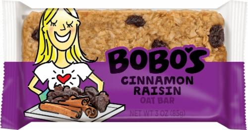 Bobo's Cinnamon Raisin Oat Bar Perspective: front
