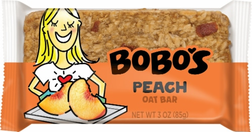 Bobo's Peach Oat Bar Perspective: front