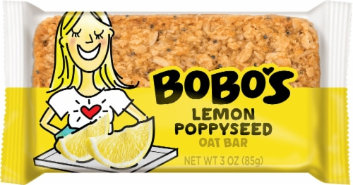 Bobo's Lemon Poppyseed Oat Bar Perspective: front