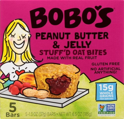 Bobo's Peanut Butter & Jelly Stuff'd Oat Bites Perspective: front