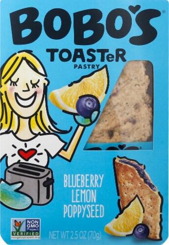 Bobo's Blueberry Lemon Poppyseed Toaster Pastry Perspective: front