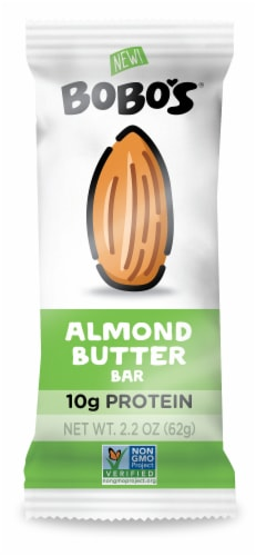Bobo's Gluten Free Almond Butter Bar Perspective: front