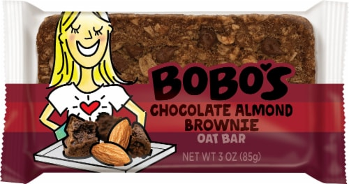 Bobo's Chocolate Almond Brownie Oat Bar Perspective: front