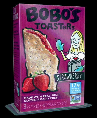 Bobo's Strawberry Toaster Pastries Perspective: front