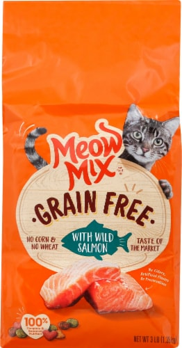 Meow Mix Grain Free with Wild Salmon Dry Cat Food Perspective: front