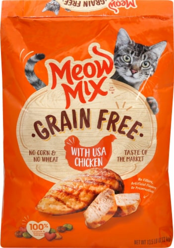 Meow Mix Grain Free with Chicken Dry Cat Food Perspective: front