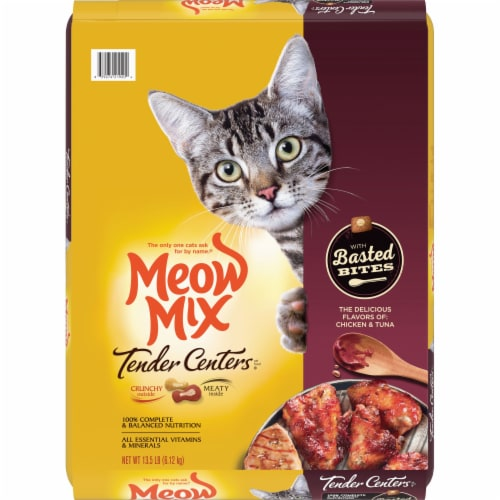 Meow Mix Tender Centers Chicken & Tuna Basted Bites Perspective: front