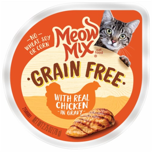 Meow Mix Grain Free with Real Chicken in Gravy Cat Food Perspective: front