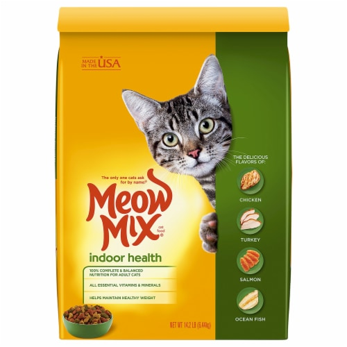 Meow Mix Indoor Health Dry Cat Food Perspective: front