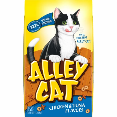 Alley Cat Chicken & Tuna Dry Cat Food Perspective: front
