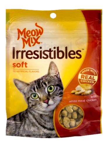 Soft Cat Food >> Fry S Food Stores Meow Mix Irresistibles Soft Chicken Cat Treats 3 Oz