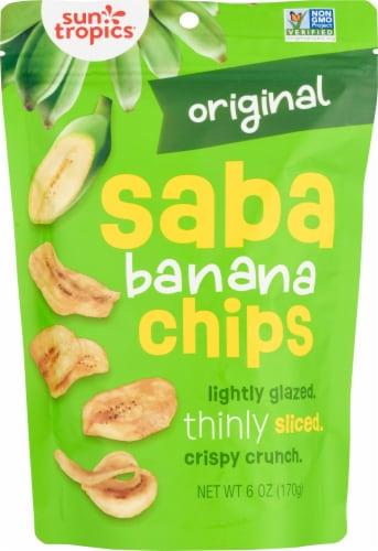 Sun Tropics Island Saba Original Banana Chips Perspective: front