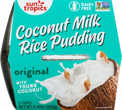 Sun Tropics  Coconut Gluten & Dairy Free  Coconut Rice Pudding Cups2 Count Perspective: front
