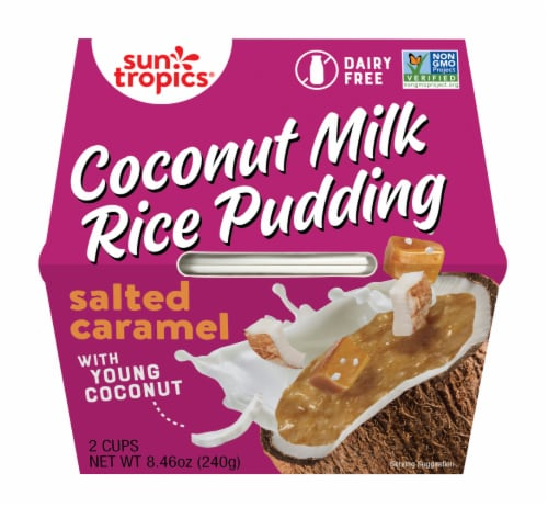 Sun Tropics  Coconut Gluten & Dairy Free Sea Salt Caramel  Rice Pudding 2 Count Perspective: front